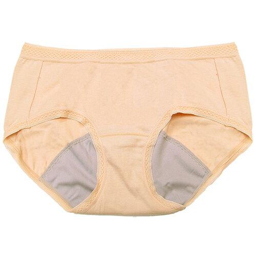 【AJM】MIT素色防漏中低腰平口生理褲(膚)