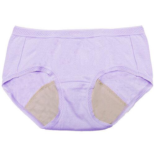 【AJM】MIT素色防漏中低腰平口生理褲(紫) 0
