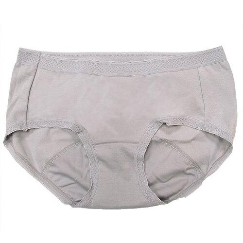 【AJM】MIT素色防漏中低腰平口生理褲(灰) 0