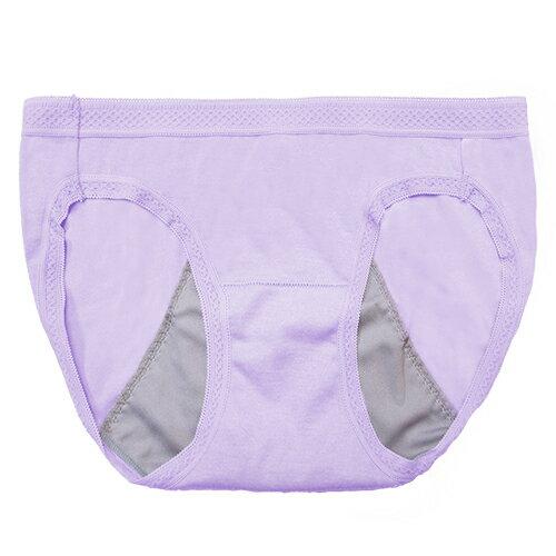 【AJM】MIT素色防漏中低腰三角生理褲(紫) 0