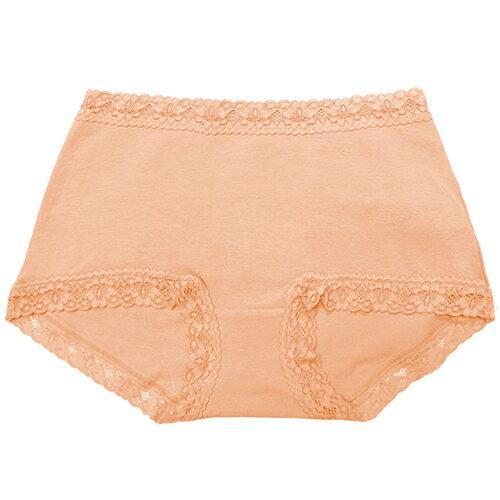 【AJM】素色棉質舒適高腰平口褲(膚) 1