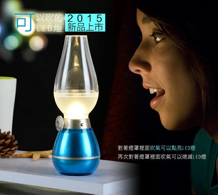 HANLIN-LED04W- 復古吹吹燈-可調光LED小夜燈 USB充電 造型燈 檯燈 台燈 壁燈 手提燈 聖誕 交換禮物 【風雅小舖】