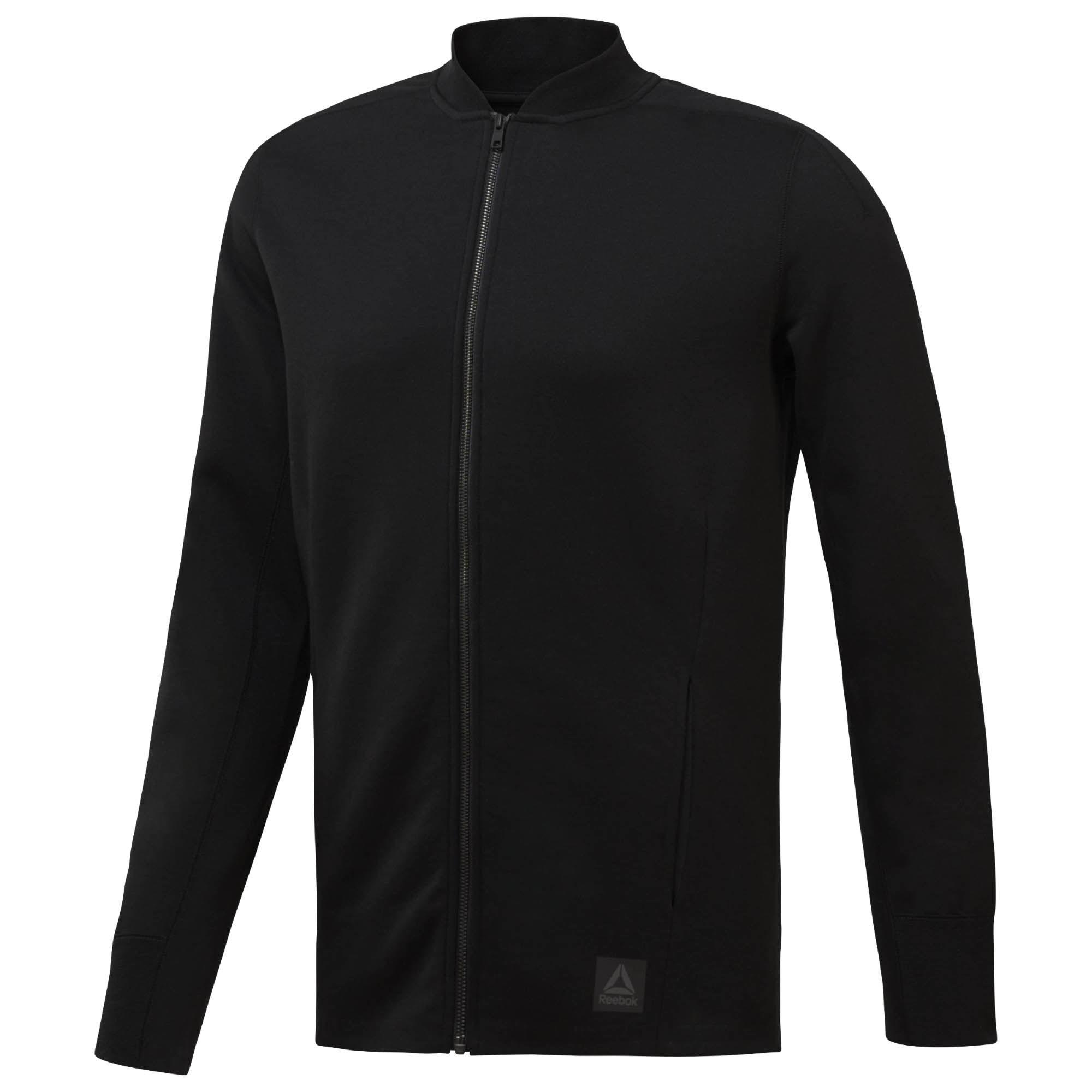 REEBOK TRAINING SUPPLY VARSITY 男裝 外套 針織 棒球外套 休閒 舒適 黑【運動世界】CV8196