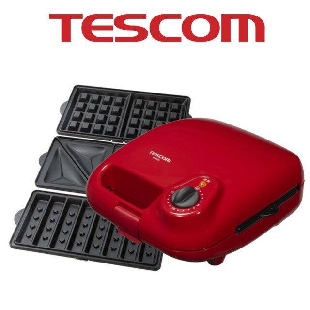 【日本TESCOM】三盤式鬆餅機
