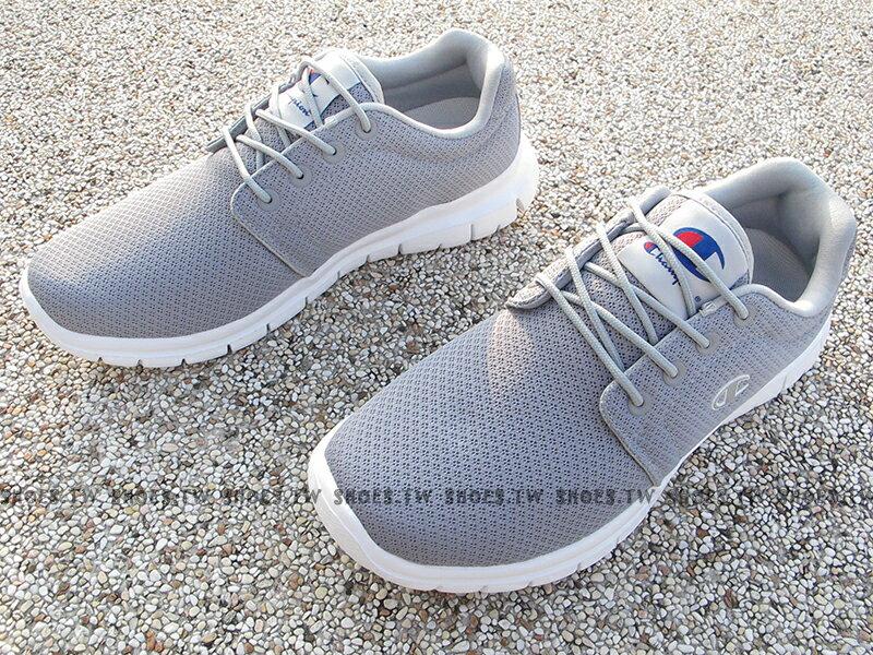 《限時特價990元》Shoestw【811210222】Champion CP Runner 運動鞋 灰白 網布 男生 1