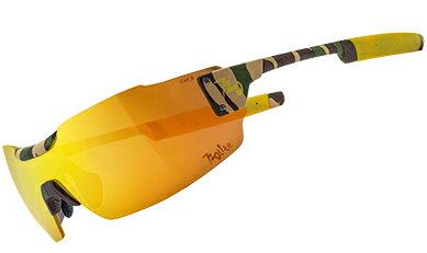720armour Clipper 單車三鐵設計款 廣角一體運動太陽眼鏡 T996-13 消光茶迷彩框冠軍金防爆PC片