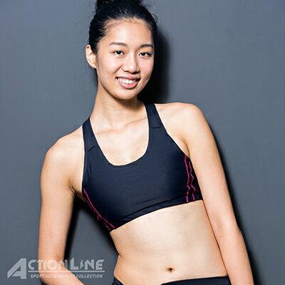 【ACTIONLINE】爬線網布運動內衣-桃紅 - 限時優惠好康折扣
