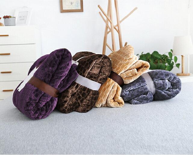 *華閣床墊寢具*法蘭絨素色立體雕絨毯 150*200 cm 四色 可超取