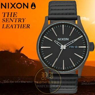 NIXON 實體店THE SENTRY LEATHER腕錶A105-2138公司貨/極限運動/時尚潮流