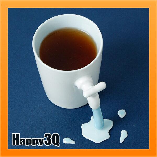 創意水杯手工杯子水龍頭馬克杯創意搞笑漏水杯訂製可刻字附蓋子托盤送禮【AAA4086】