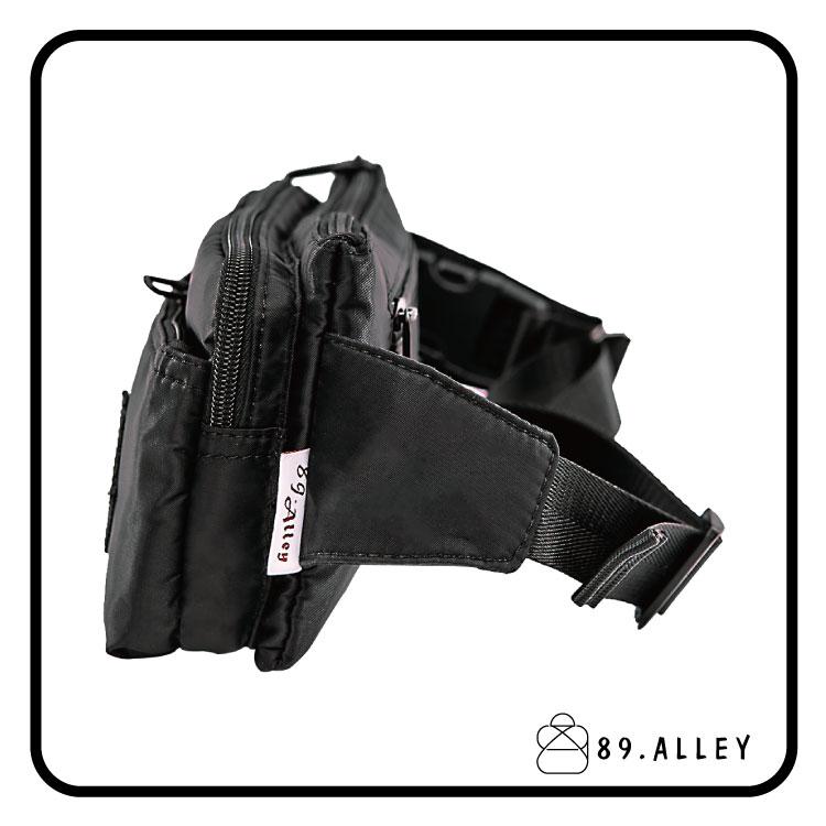 腰包 單肩包 女包男包 黑色系防水包 輕量尼龍多層情侶防搶包 89.Alley ☀1色 HB89141 3