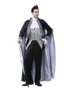 X射線 精緻禮品:X射線【W370034】銀黑吸血鬼,舞會尾牙萬聖聖誕大人變裝cosplay表演攝影寫真話劇舞台劇