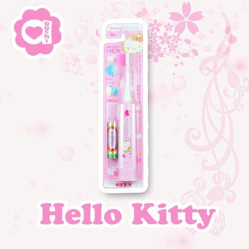 Hello Kitty 凱蒂貓 日本製超極細毛高轉速電動牙刷 一分鐘7000次震動 大人小孩皆適用