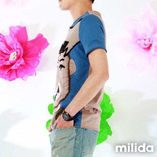 【Milida,全店七折免運】男生款-獨家設計情侶款T恤 3