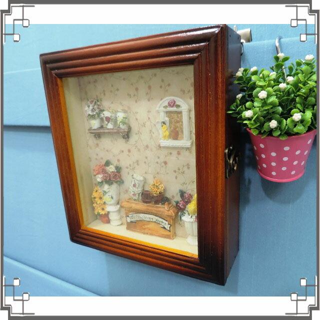 木製田園KEY BOX~WK1~1~鄉村鑰匙盒 木製鑰匙盒 壁櫃 收納櫃 壁飾◤彩虹森林◥