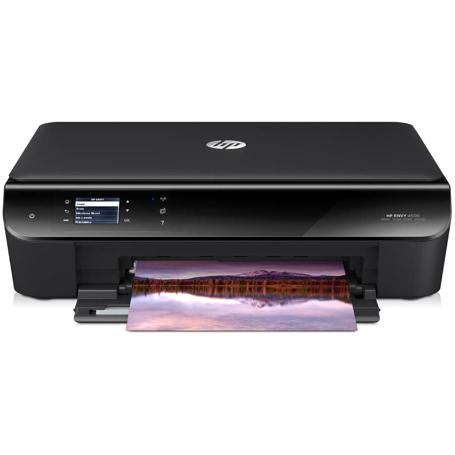 HP Envy 4500 Inkjet Multifunction Printer - Color - Plain Paper Print -  Desktop - Copier/Printer/Scanner - 21 ppm Mono/17 ppm Color Print - 8 8 ppm