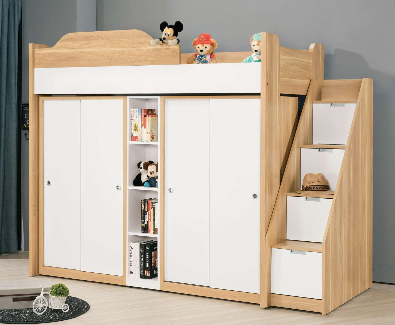 【簡單家具】,G684-1 卡爾3.7尺多功能挑高組合床組,大台北都會區免運費