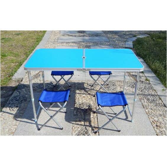 寶貝屋 折疊桌鋁合金 露營桌 可調式野餐桌 /摺疊桌 /休閒桌/烤肉桌 戶外用品 輕便桌