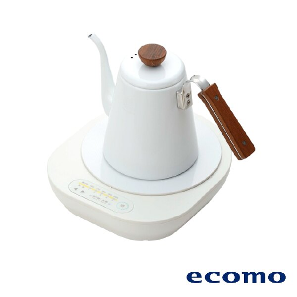【領券現折+點數回饋$506】日本 ecomo ( AIM-CT104 ) cotto cotto IH電磁爐 x HARIO琺瑯細口壺組 0