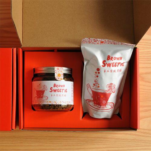 【食在加分手工柴燒黑糖禮盒】原味玻璃罐裝+原味立袋裝禮盒組-免運費 1