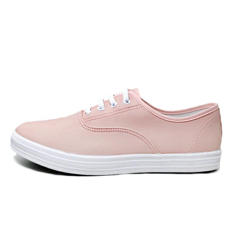 【滿額領券↘折$120】女款柔軟皮質懶人休閒鞋 [37119] 粉 MIT台灣製造【巷子屋】