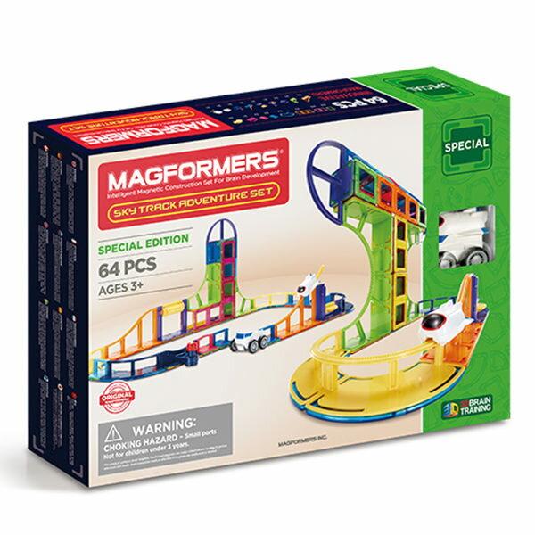 【韓國Magformers磁性建構片】雲霄飛車探險組64pcsACT06345