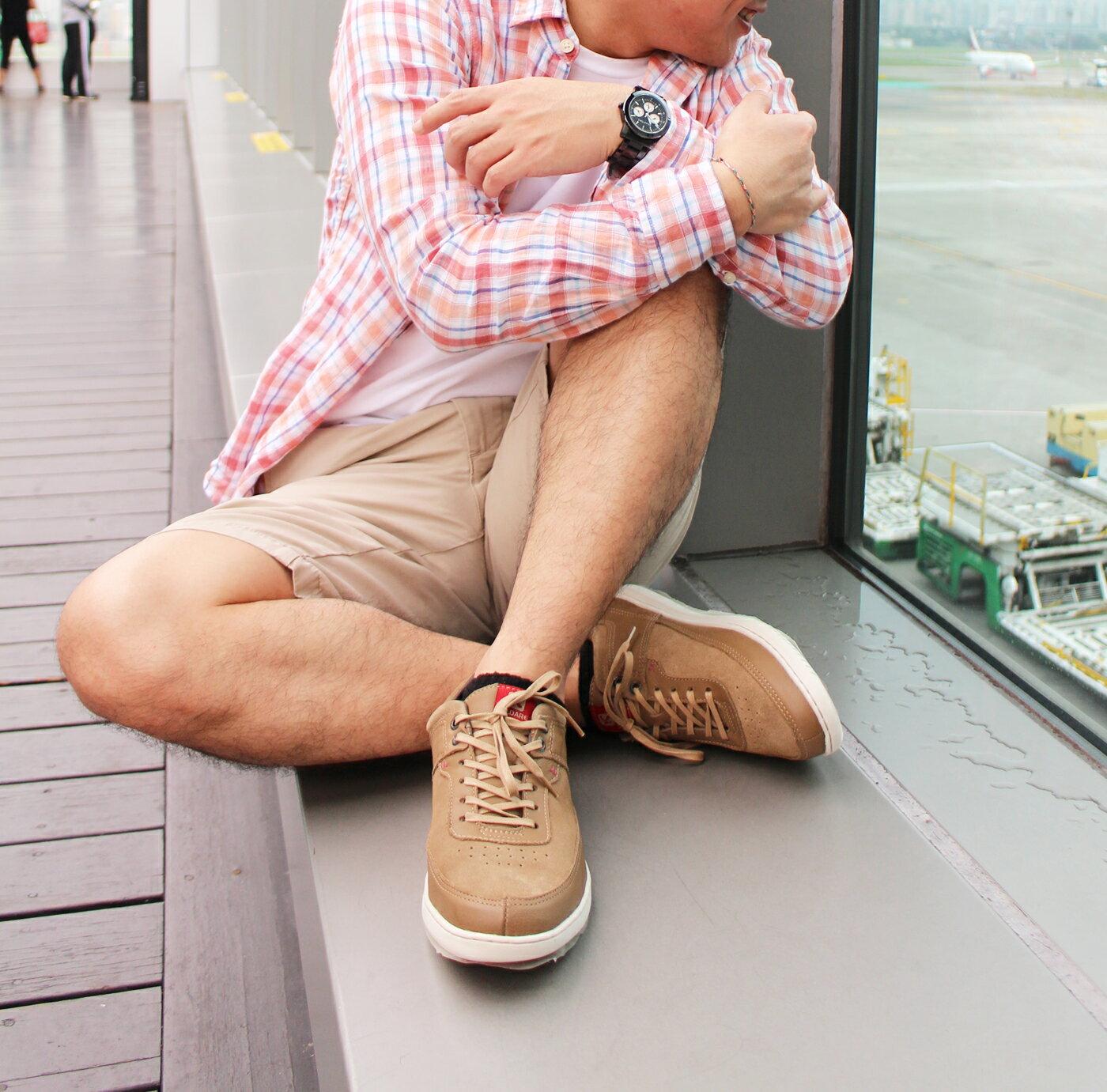 【KILDARE 85折】KILDARE 綁帶休閒鞋 淺咖啡 男 慢跑休閒 7