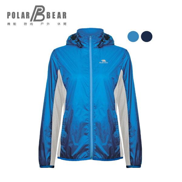 【POLARBEAR】輕薄異素材拼接抗UV可收納運動外套