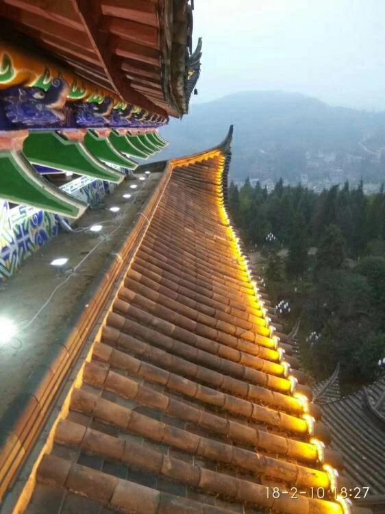 工程專用LED戶外瓦楞燈3W5W月亮燈涼亭瓦面投射燈黃光瓦片燈