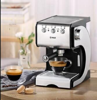 咖啡機 DL-KF500S 咖啡機家用小型全半自動意式商用蒸汽式 MKS