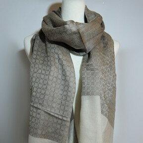 【喀什米爾圍巾】100%Pashmina鑽石編織珠光CASHMERE圍巾-(W10EIN012)