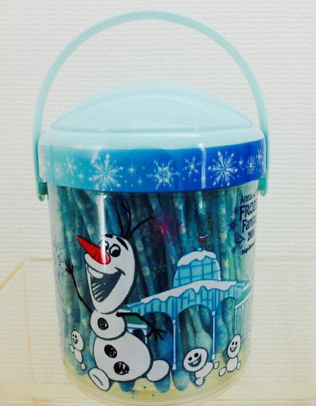 【真愛日本】16013000064 樂園限定棉花棒罐-冰雪 迪士尼帶回 冰雪奇緣 雪寶 棉花棒 衛生用品