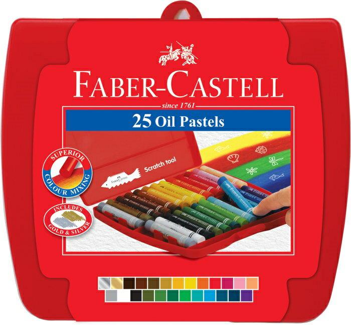 Faber-Castell 輝柏 #122724A 六角油性粉彩條24色入