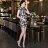 東方美人旗袍唐裝專賣店 ☆°((超低價690元))°☆272(兩色)。優雅美麗蕾絲印花改良式時尚顯瘦日常短旗袍連身裙洋裝 4
