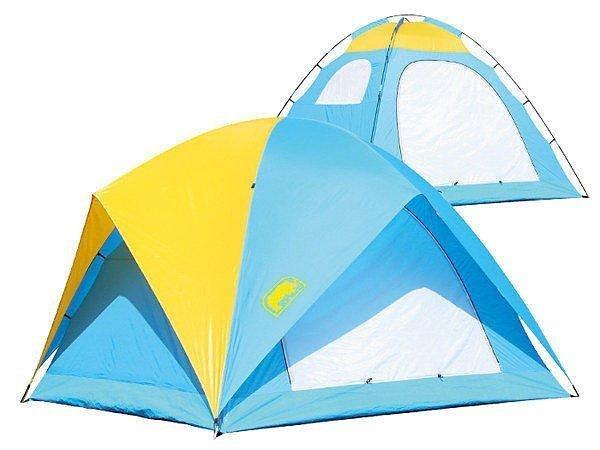 【H.Y SPORT】犀牛RHINO A-065六人高頂蝶式帳篷  6人帳蓬  家庭帳棚  玻璃纖維柱  登山露營  送睡墊