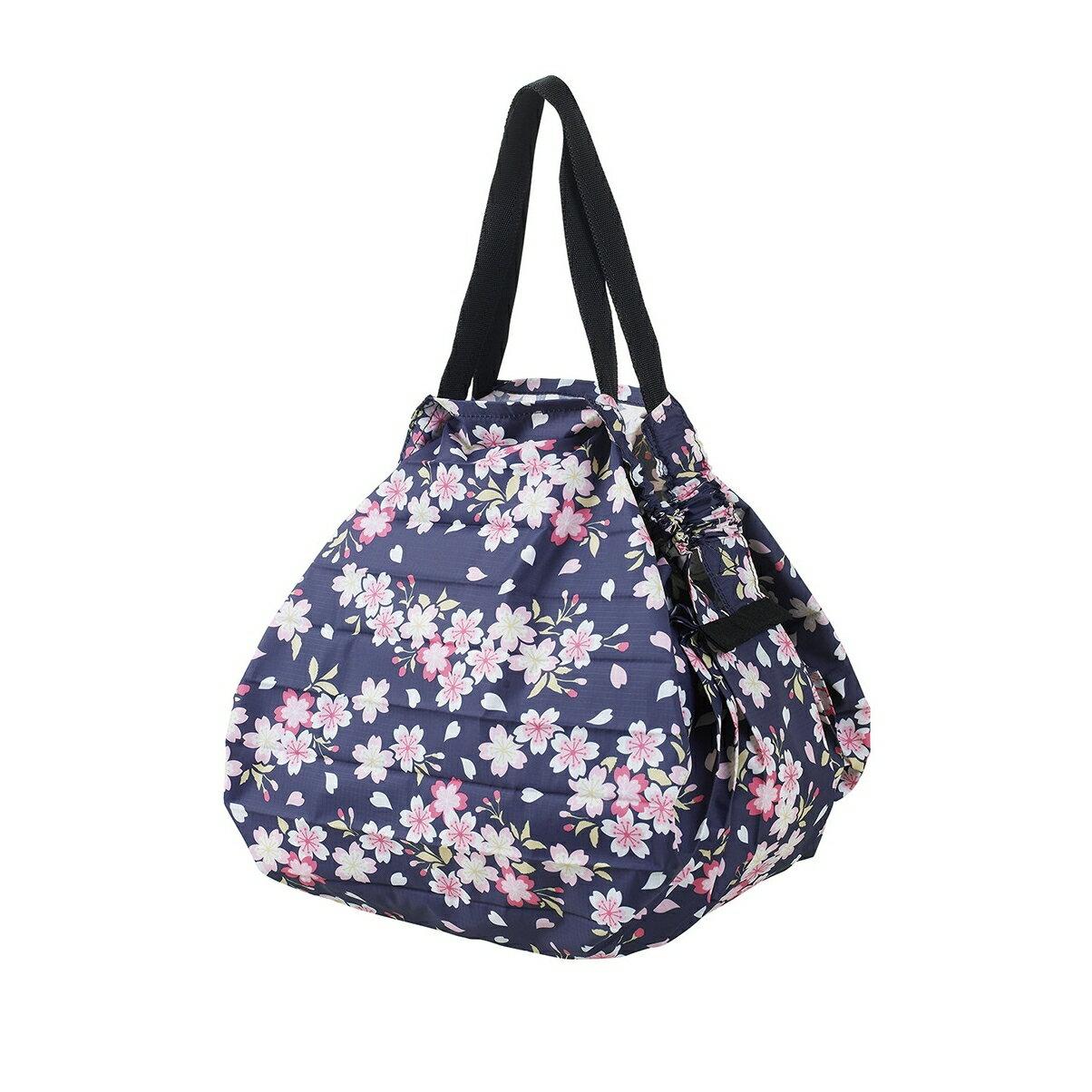 【MARNA】日本 Shupatto輕巧秒收環保袋(M/櫻花)  折疊 大容量 環保袋 購物袋 萬用包 收納