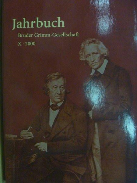 ~書寶 書T5/大學藝術傳播_YHM~Jahrbuch Der Bruder Grimm~