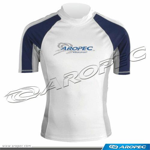 【【蘋果戶外】】AROPECSS-3K36M(白深藍)百分百台灣製品質保證專業四針剪裁抗UV男款短袖萊克衣