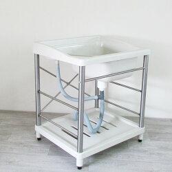 不?鋼水槽 防鏽洗手台【GAN001】耐用穩固ABS不鏽鋼洗衣槽 廚房衛浴 居家洗衣槽陽洗台 台灣製造 Amos