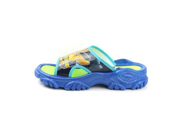 變形金鋼 TRANSFORMERS 大黃蜂 柯博文 拖鞋 好穿 防水 雨天 舒適 藍色 中童 TF10091 no706 5
