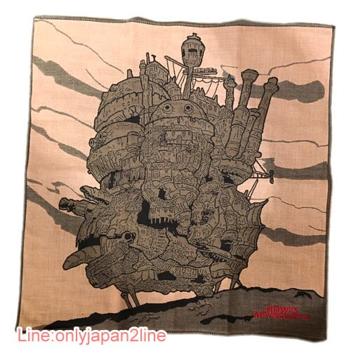 ~真愛 ~17030100009 製三重刺繡純棉大方巾~移動城堡  宮崎駿 霍兒的移動城堡