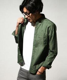 牛津襯衫日本製34OLIVE