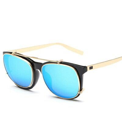 ~太陽眼鏡偏光墨鏡~方框翻蓋兩用 男眼鏡 5色73en7~ ~~米蘭 ~