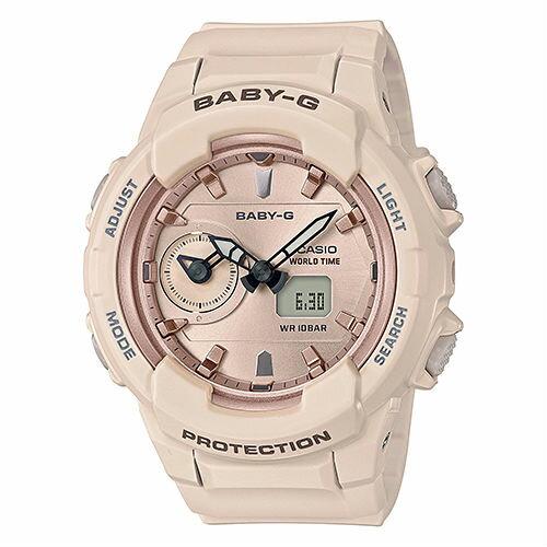 CASIO卡西歐BABY-GBGA-230SA-4AUrbanUtility主題柔和雙顯流行腕錶