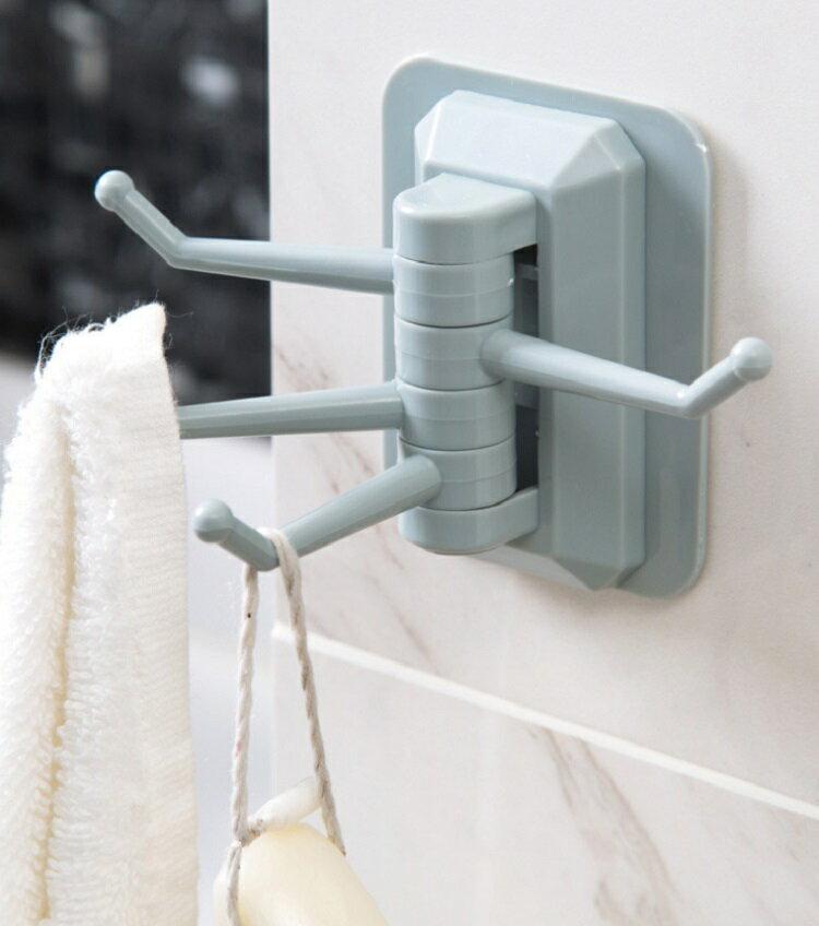 浴室廚房旋轉掛勾收納掛架 置物掛勾收納架(2個裝-顏色隨機)【AE04280-2】i-style 居家生活