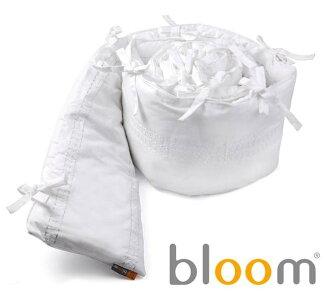 美國【Bloom】Alma Mini摺疊嬰兒床配件 - 有機棉護圍 (小)-白/麥