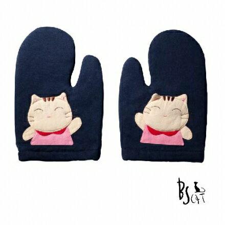 【ABS貝斯貓】貓咪廚房小物 可愛貓咪拼布 隔熱手套 (藍色88-196)【威奇包仔通】