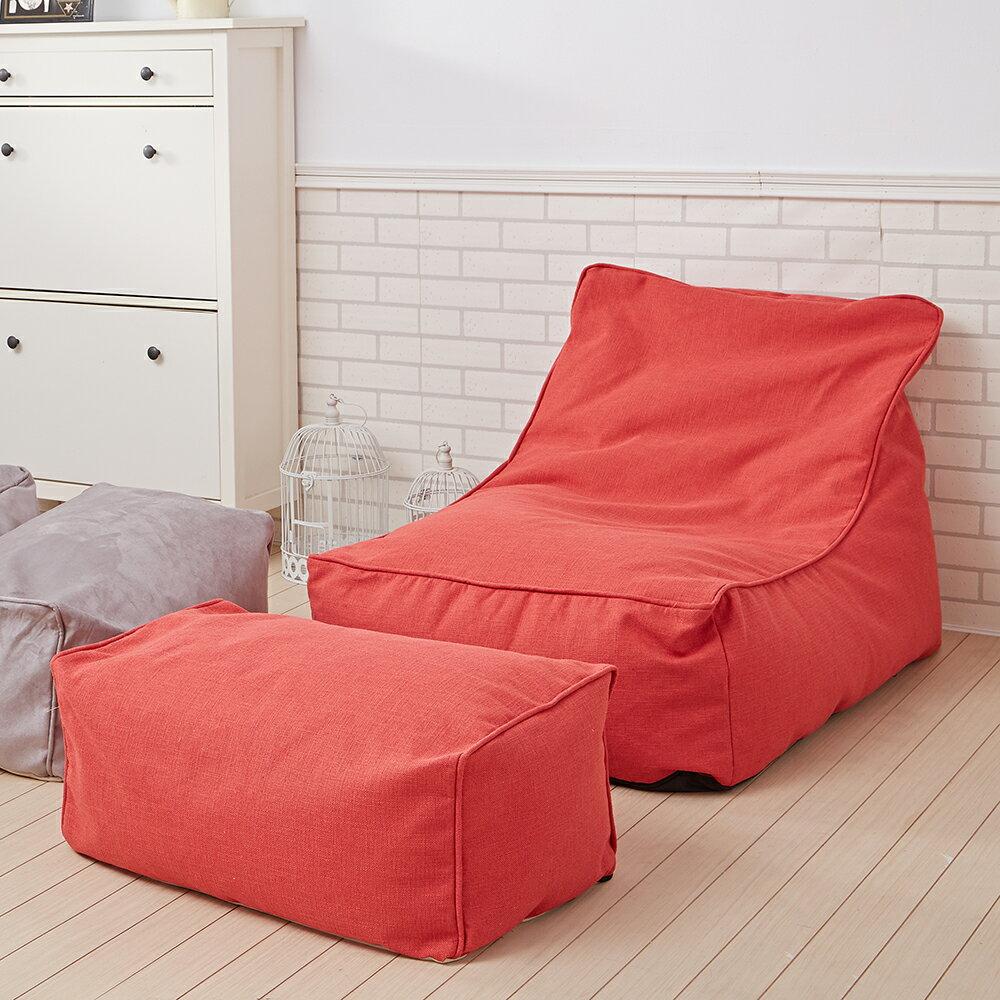【Ferrari法拉力】頂級L型懶骨頭沙發+椅凳~8色任選《靠背型懶骨頭》★班尼斯國際家具名床 5