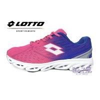 【巷子屋】義大利第一品牌-LOTTO樂得 女款4D網布超輕量氣動跑鞋 [3713] 桃/藍 0