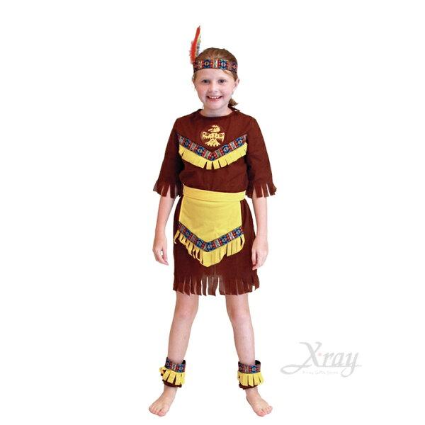 X射線【W380041】可愛印第安少女服(L),化妝舞會角色扮演尾牙表演萬聖節聖誕節兒童變裝cosplay